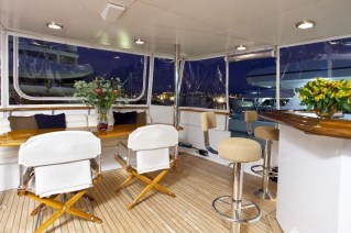 Yacht REFLECTIONS -  Aft Deck